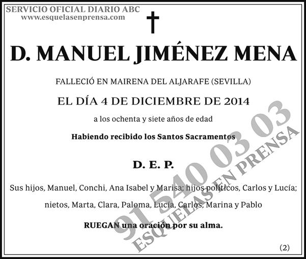 Manuel Jiménez Mena